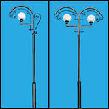 lamppost vektor illustrationer