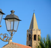 Lamppost in Alghero Royalty Free Stock Photography