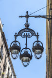 Lamppost in Barcelona, Catalonia, Spain Royalty Free Stock Images