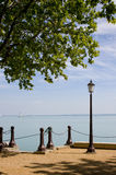 Lamppost and beach Royalty Free Stock Photography