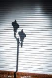 Lamppost cień Obrazy Royalty Free