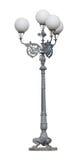 Lamppost da rua com quatro lâmpadas Foto de Stock Royalty Free