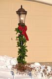 Lamppost Decorated for Christmas Royalty Free Stock Image