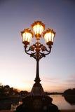 Lamppost at dusk Stock Photo
