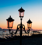 Lamppost at dusk Royalty Free Stock Image