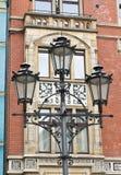 Lamppost e vecchie costruzioni Fotografie Stock Libere da Diritti