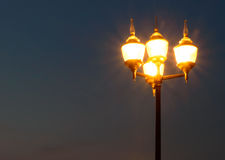 Lamppost In the Evening Royalty Free Stock Photo