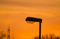 Lamppost 1. Lamppost in focus during sundown royalty free stock images