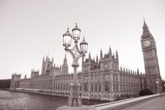 Lamppost and Houses of Parliament, London Stock Images