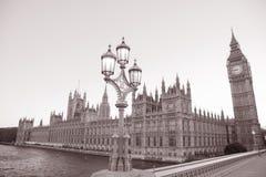 Lamppost i domy parlament, Londyn obrazy stock