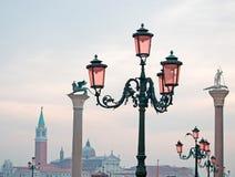 Lamppost i kolumna w San Marco Zdjęcie Stock