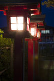Lamppost. Illuminate the door of a Japanese temple Stock Images