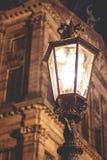 Lamppost iluminować Fotografia Stock