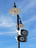 Lamppost with loud-speakers Royalty Free Stock Photography