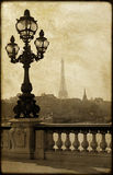 Lamppost na ponte de Alexandre III imagem de stock