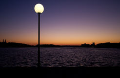 Lamppost at night. Royalty Free Stock Images