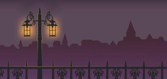 Lamppost at Night. Illustration of lamppost at night Stock Image