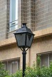 Lamppost ochraniający fotografia stock