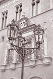 Lamppost outside Old Town Hall, Prague Royalty Free Stock Photography