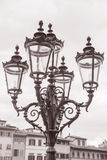 Lamppost outside Palazzo Pitti, Florence Royalty Free Stock Photos