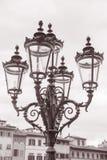 Lamppost outside Palazzo Pitti, Florence Royalty Free Stock Photos