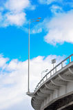 Lamppost at the overpass Royalty Free Stock Photos