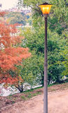 Lamppost in park Royalty Free Stock Photography