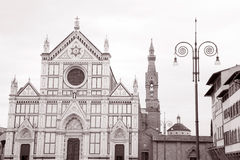Piazza di Santa Croce Square, Florence Royalty Free Stock Images