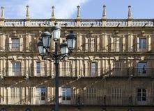Lamppost. Salamanca. Lamp from the Plaza Mayor of Salamanca Royalty Free Stock Photo