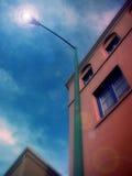 lamppost santa fe Стоковая Фотография RF