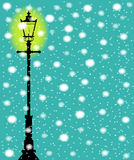 Lamppost In the Snow Royalty Free Stock Image
