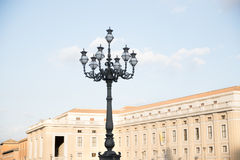 Lamppost at St Peter`s Square at Vatican City in Rome Stock Images