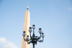Lamppost at St Peter`s Square at Vatican City in Rome Stock Photography