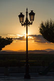 Lamppost on Sunset Park Viewpoint Royalty Free Stock Photography