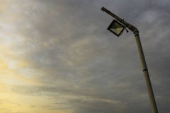 Lamppost. Is taken under cloudy sky Royalty Free Stock Photos