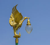 Lamppost. In the temple on blue sky background Royalty Free Stock Photography