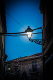 Lamppost. To cross-light and to the Late afternoon - Cross-light with classic royalty free stock photos