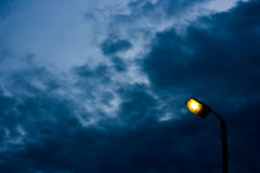 The lamppost in twilight. Royalty Free Stock Photos