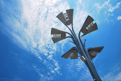 Lamppost under the blue sky Royalty Free Stock Images