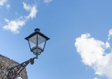Lamppost under a cloudy sky Royalty Free Stock Photo