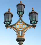 Lamppost on Westminster Bridge Royalty Free Stock Image