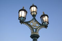 Lamppost; Westminster Bridge; London Royalty Free Stock Images