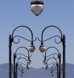 Lampposts surreali immagini stock