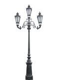 lampposttriple Royaltyfria Foton
