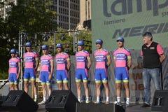 Lampre Fachmann-Radsportteam Lizenzfreie Stockbilder