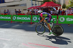 Lampre Merida Racing Cyclist Stock Images