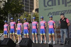 Lampre Professional Cycling Team Royalty Free Stock Images