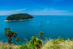 Lampromphep phuket Tailândia do mar imagens de stock