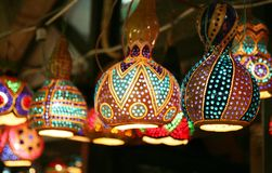 Lamps. Turkish lamps in grand bazaar in istanbul turkiye Royalty Free Stock Photos