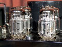 Lamps of amplifier Royalty Free Stock Images